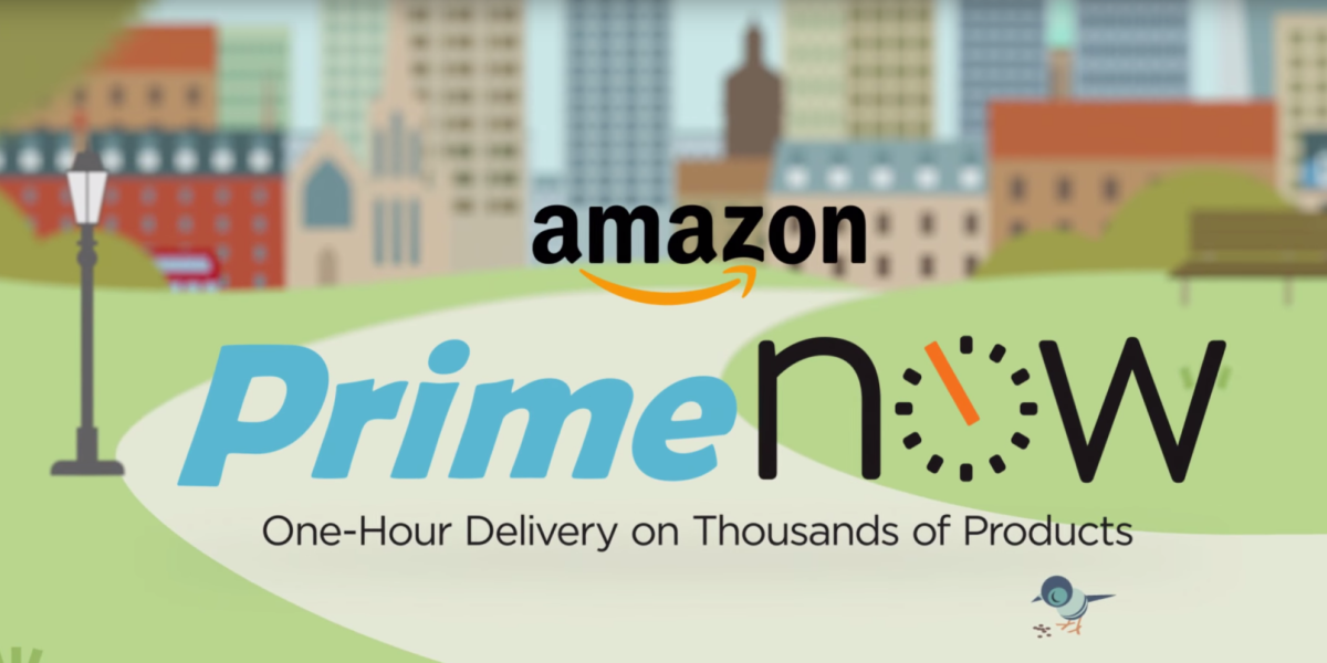 Amazon's Prime Now delivers food around Los Angeles within one hour