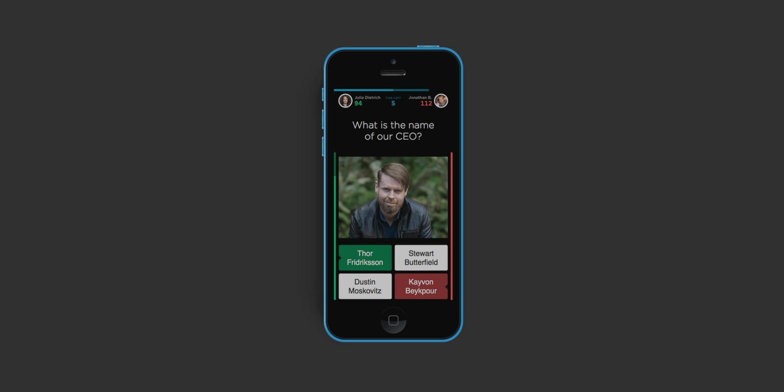QuizUp has a new corporate trivia game for companies