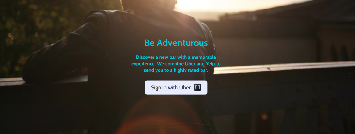 This app automatically picks you up in an Uber and takes you to a mystery bar