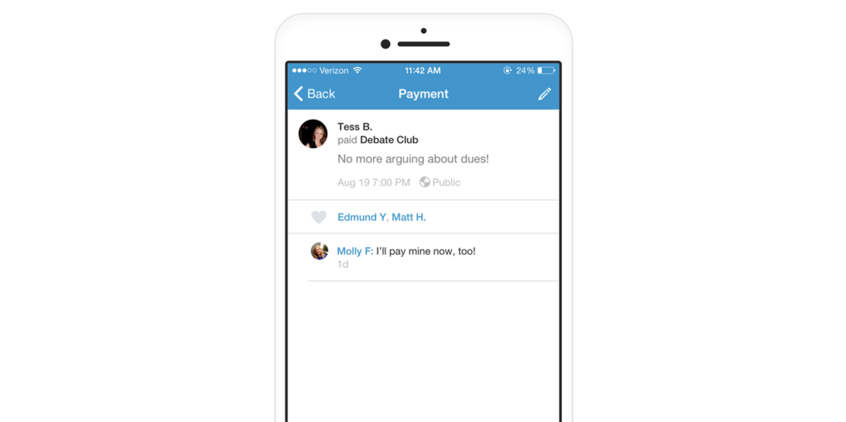 Venmo now supports shared group accounts