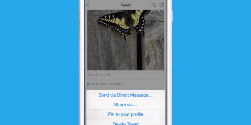 Twitter now lets you pin tweets to the top of your profile on iOS and Android