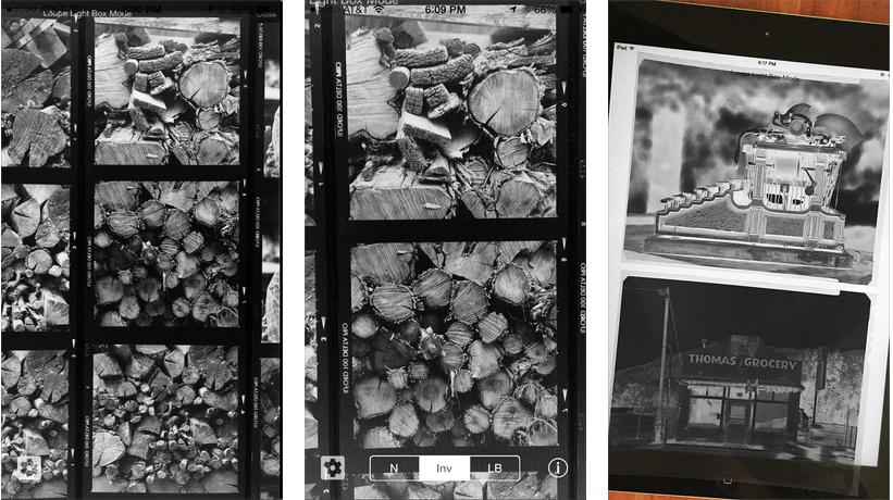 Light Table Loupe for iOS lets you easily view your film negatives