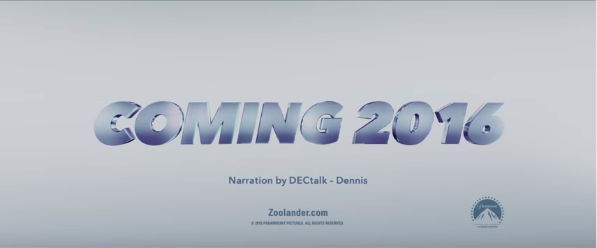 Credit where credit's due in the Zoolander 2 trailer