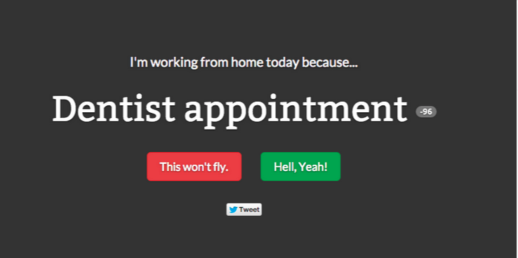 here are the best excuses to work from home according to the internet crowd