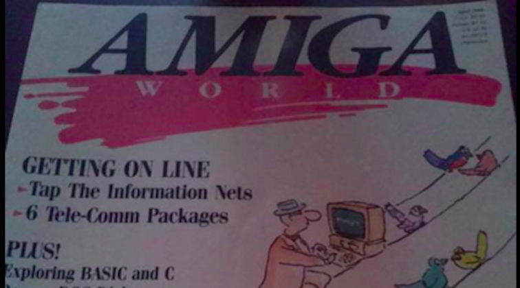 A tweet in 1988? Amiga World magazine predicted Twitter 18 years ahead of time