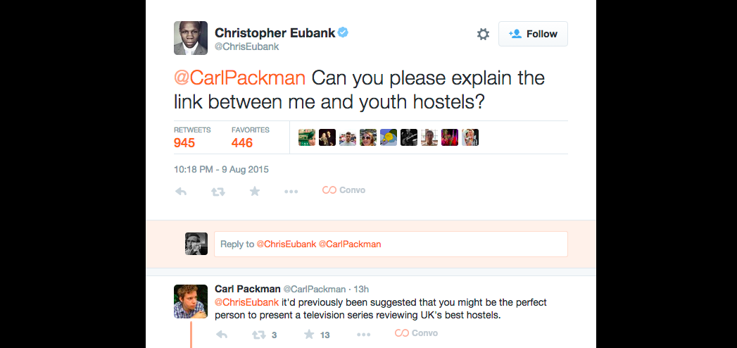 Maybe someone needs to show Chris Eubank a few episodes of 'Alan Partridge'