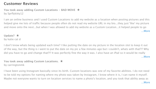 Instagram has removed custom locations screenshot 2015 08 25 123136 ccuart Image collections