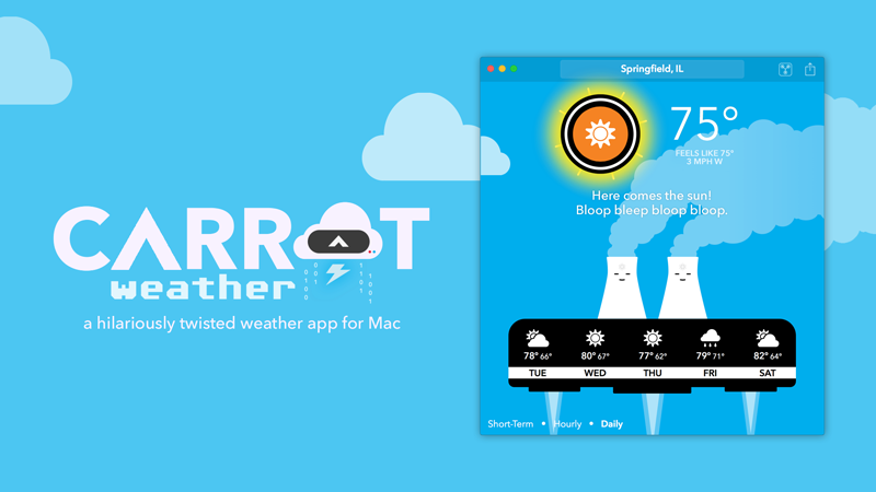 Carrot's smartass weather app comes to Mac