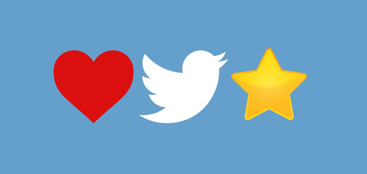 Twitter says we use its new 'like' heart six percent more than the 'favorite' ...
