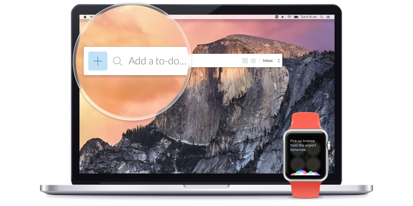 Wunderlist for Mac lets you add to-dos without switching apps