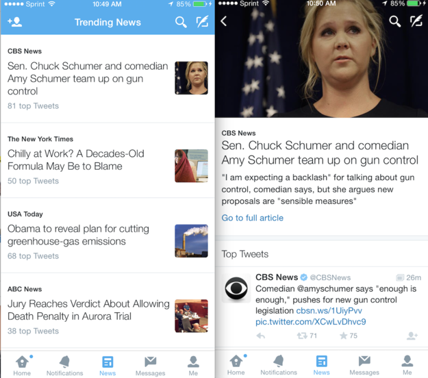 Twitter tests News Tab to make scanning headlines easier