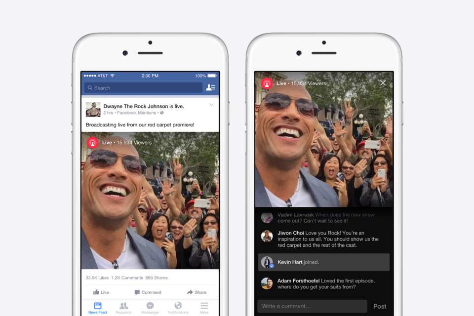 Facebook takes on Periscope and Meerkat, but only celebs can stream