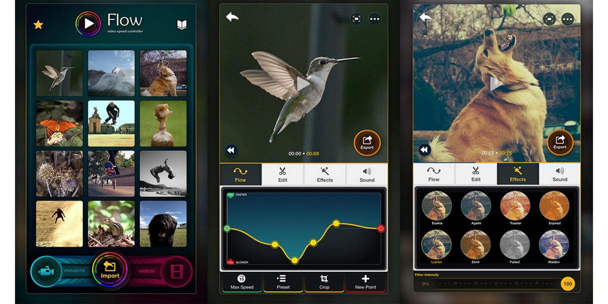 Flow video controller for iOS lets you easily combine high speed and slowmo