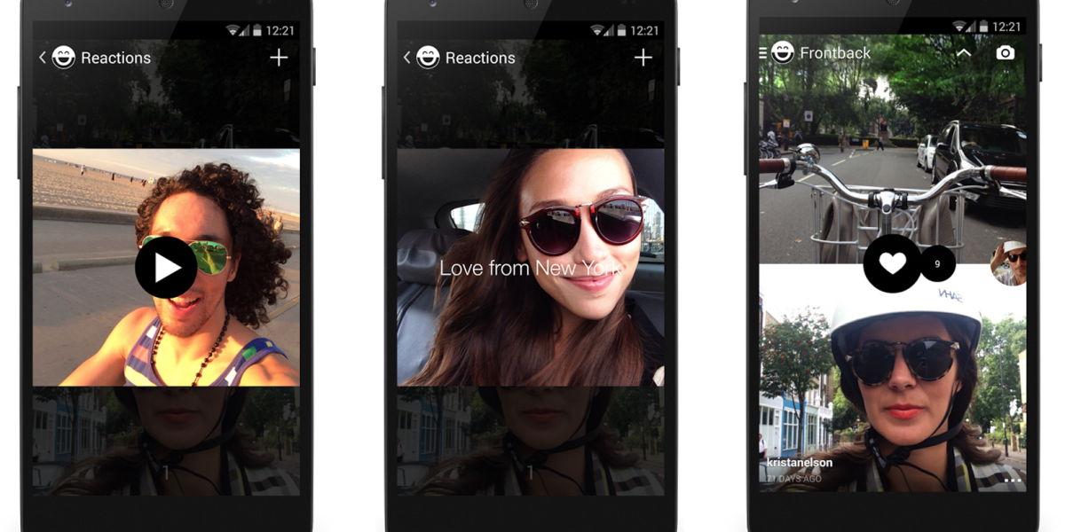 Frontback lives! The dual-camera selfie app won't be closing but the founders are leaving