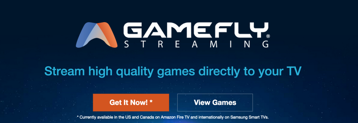 GameFly's video game streaming service is now on Samsung Smart TVs in Europe and US