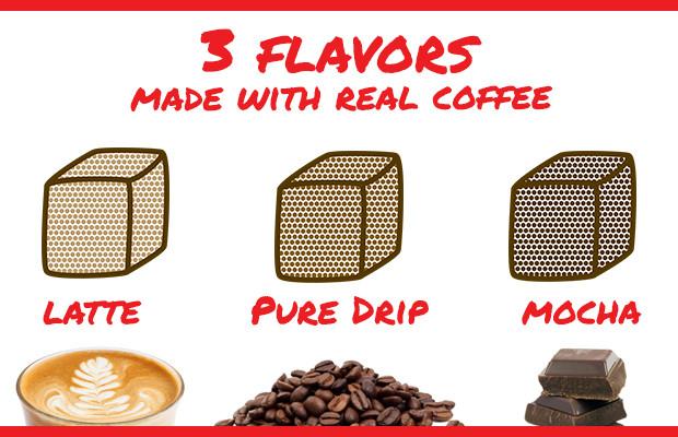 gocubes coffee flavors