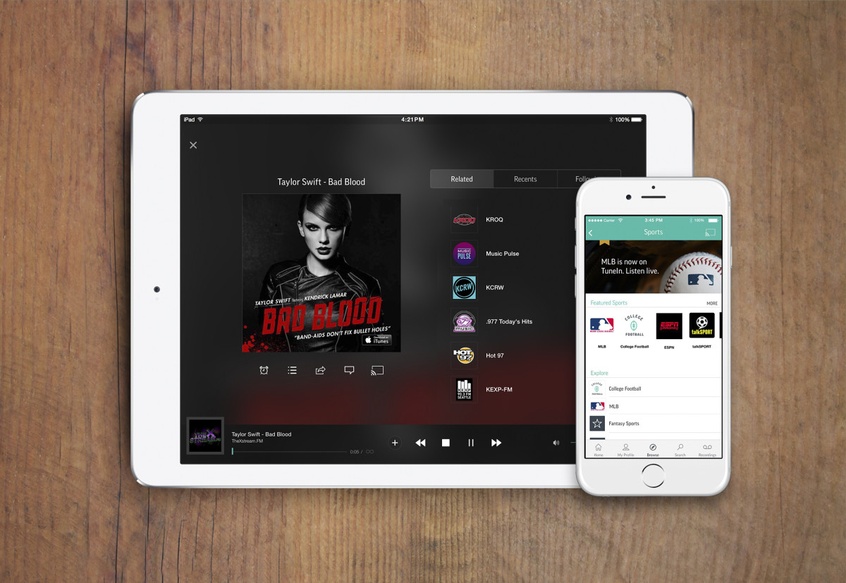 TuneIn's new Premium tier removes the ads and introduces new sports and audiobook stations