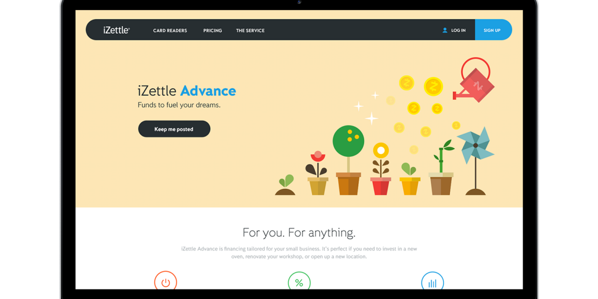 iZettle Advance is like Square Capital for small UK and European businesses