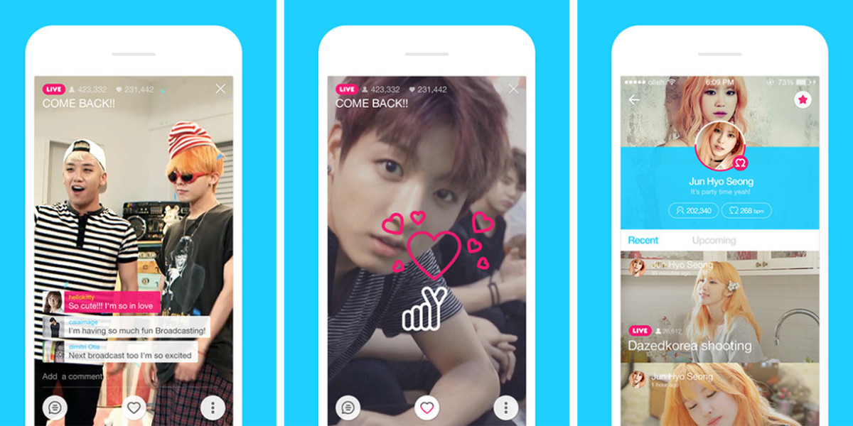Line's parent company launches V, a new Periscope-style broadcasting app for celebs