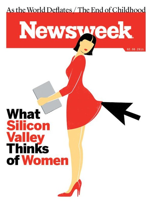 Controversial cover of Newsweek objectifying women in tech.