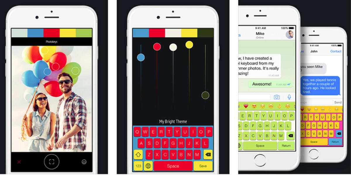 Photokeys for iOS lets you create custom keyboard themes from your photos
