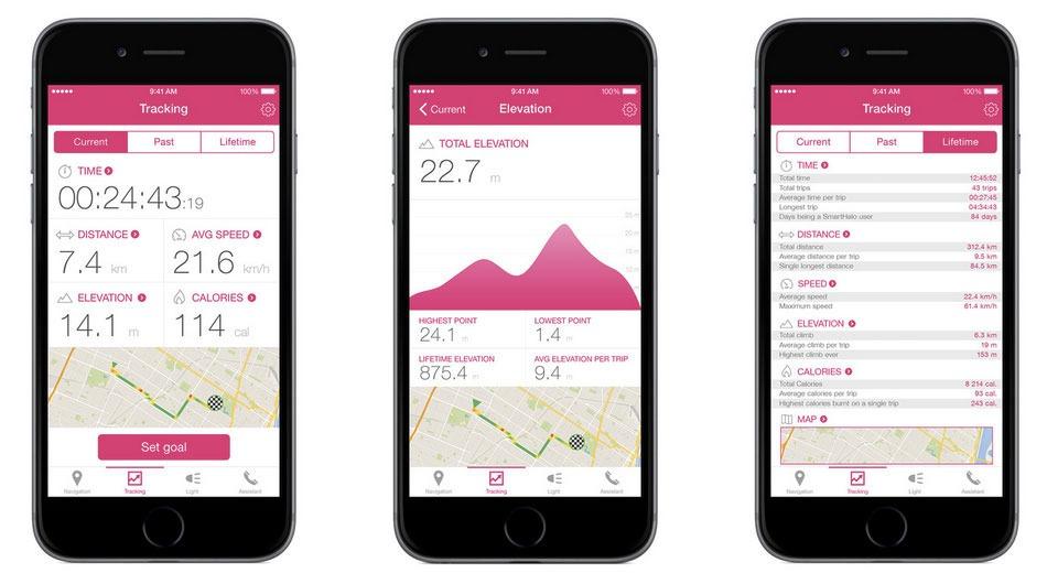 SmartHalo's companion app