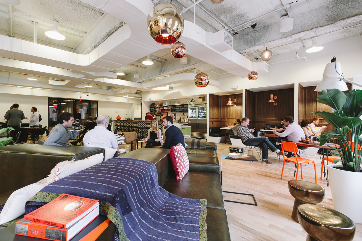 WeWork Coworking Space in New York's FiDi