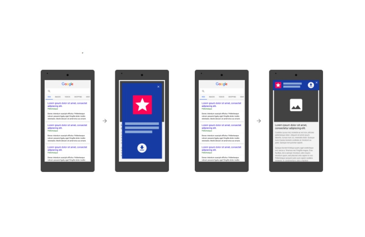 Google will soon demote sites with full-page app install ads