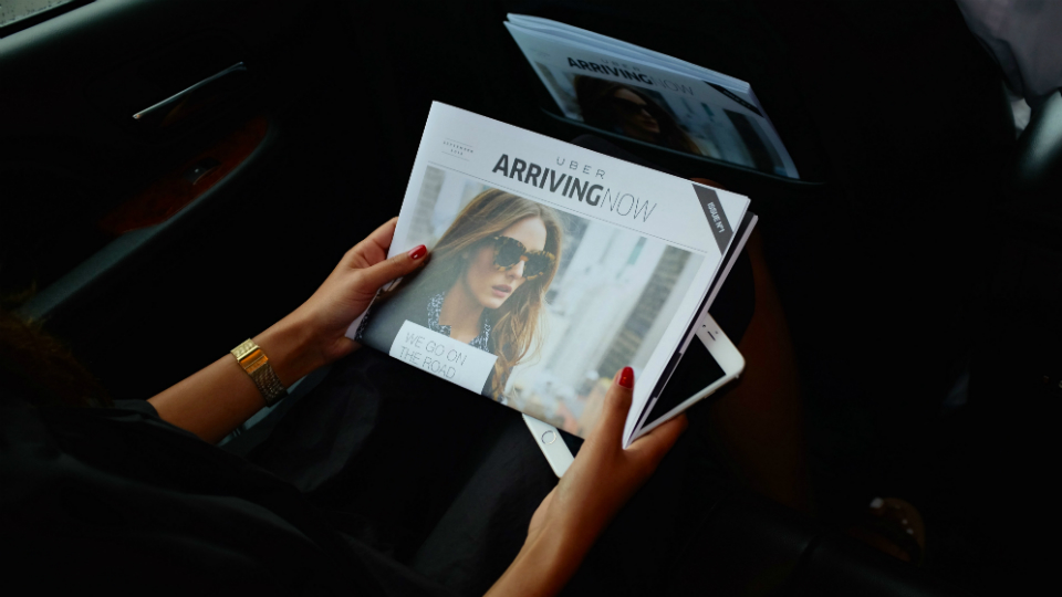 Uber's new in-car magazine is advertisers' ticket to targeting local clientele