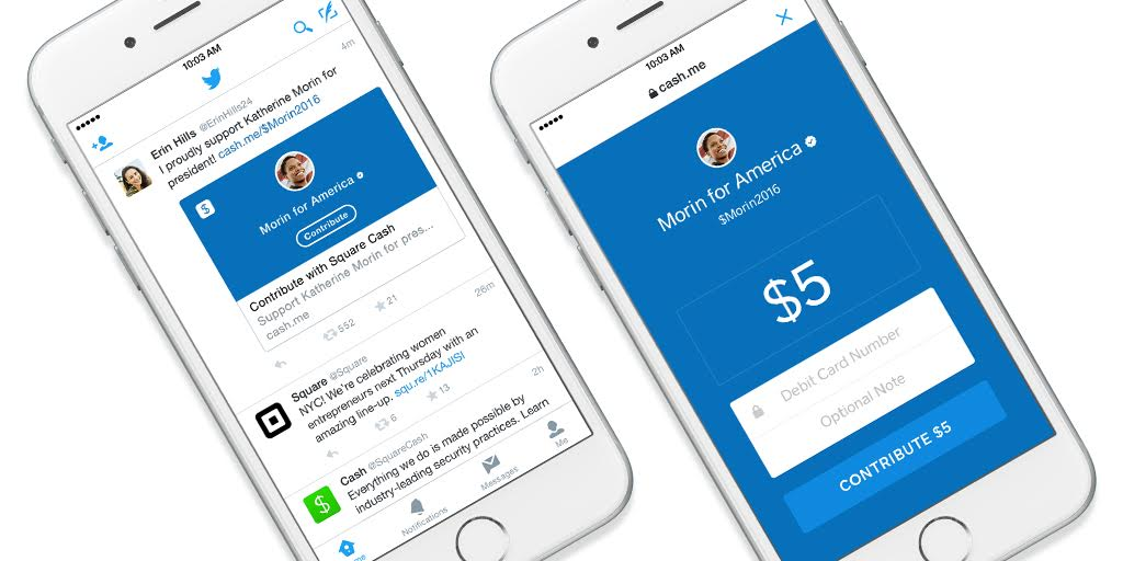 Square now lets you tweet political donations