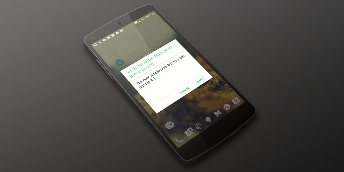 Evernote for Android now lets you jot down thoughts right from your home screen