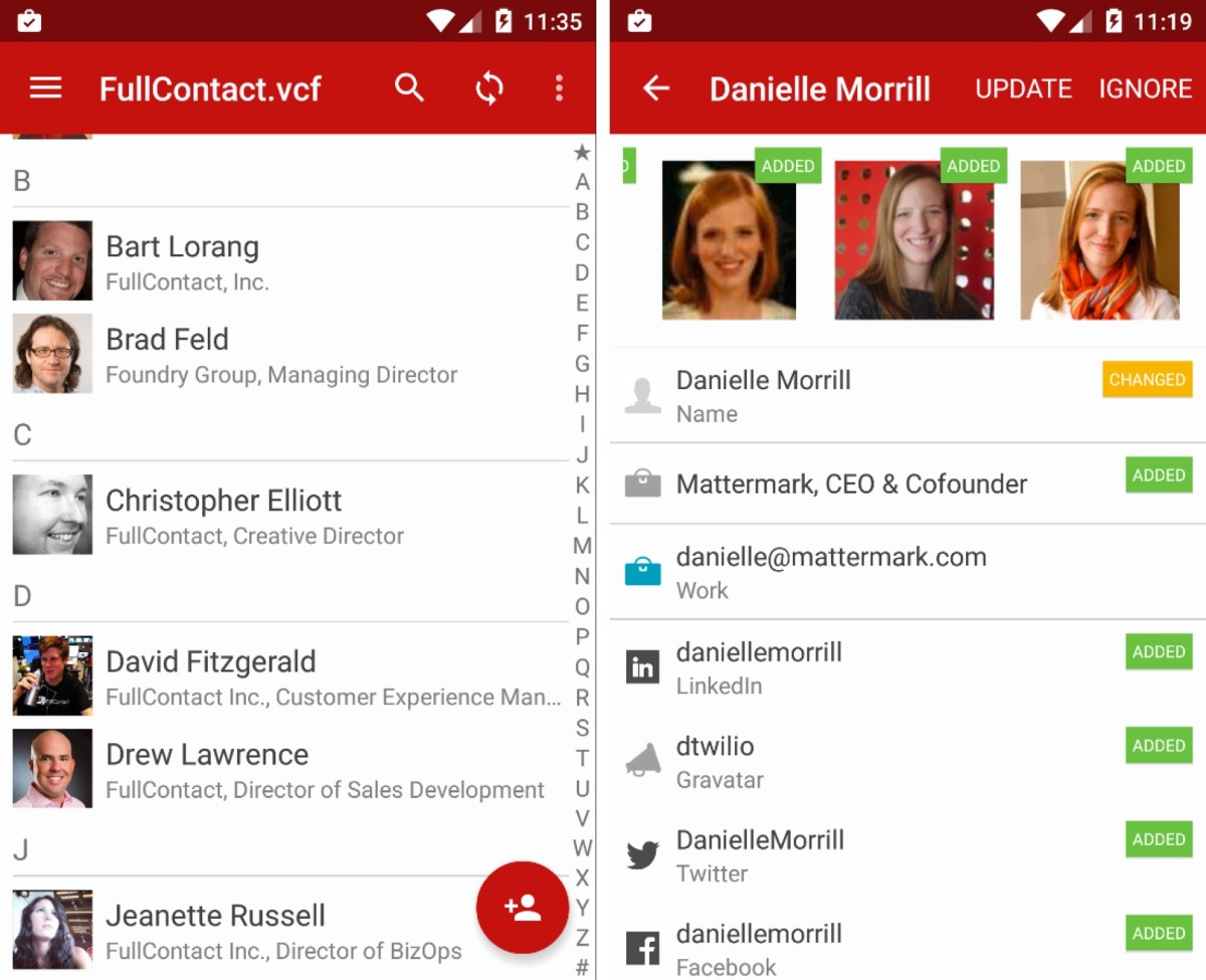 fullcontact hits android to make your address book smarter