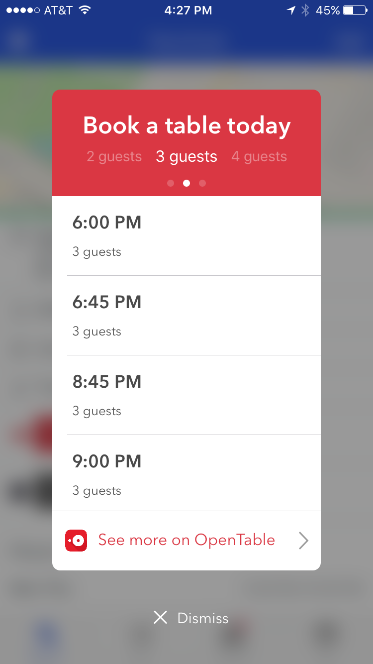 Foursquare Now Lets You Make Opentable Reservations