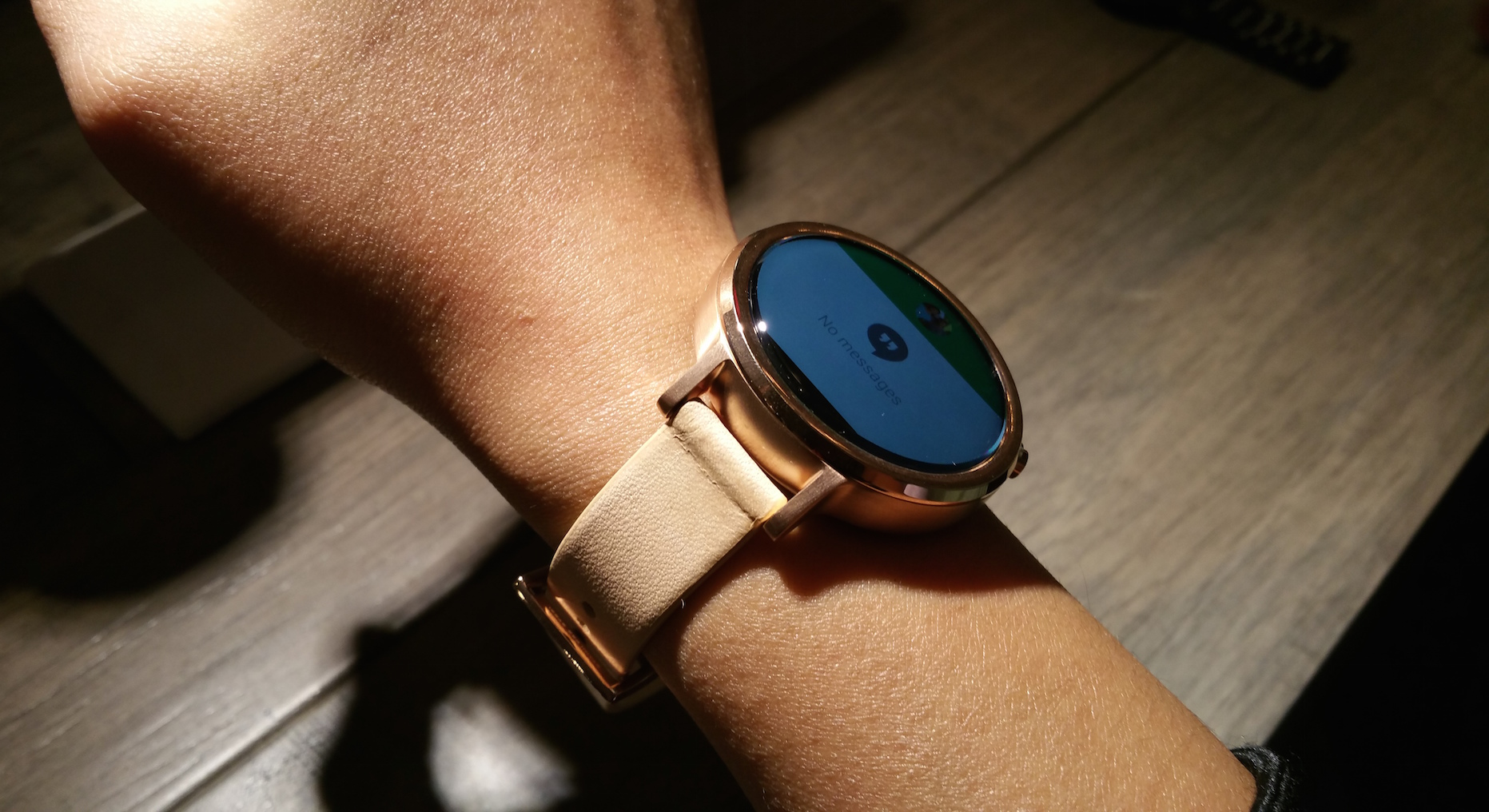 The thin leather bands look much better on smaller wrists.