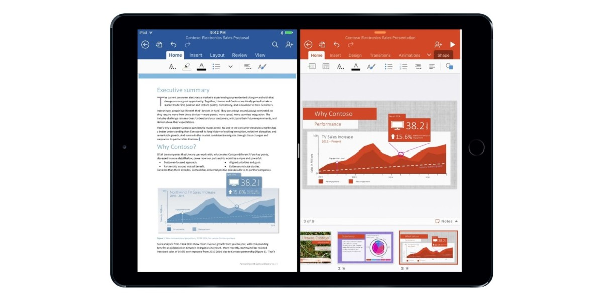 Office apps for iOS 9 will let you multitask and mark up documents with a stylus