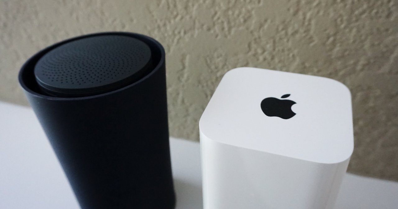 Apple Airport Extreme Vs Google Onhub Two Powerhouse Routers This Page Is For Hook Up Of A Router Or Wireless Routerbasically Your Separated By Software