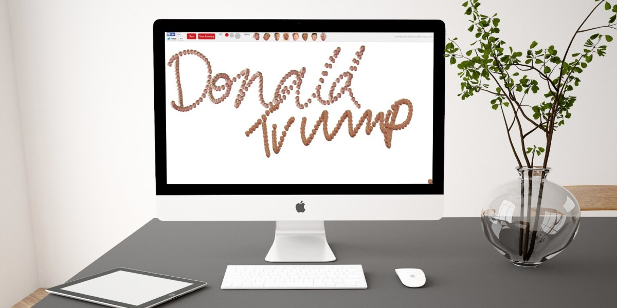 'Paint with Donald Trump' lets you decorate a canvas with the billionaire's face