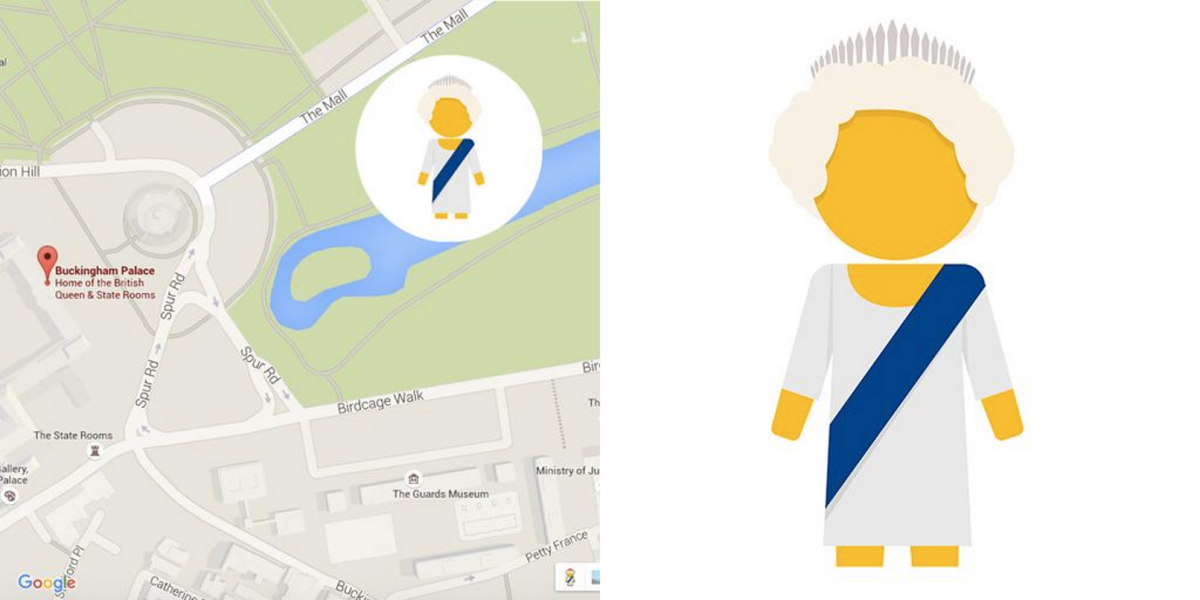 PegMa'am comes to Buckingham Palace on Google Maps to celebrate the Queen's 63-year reign ...
