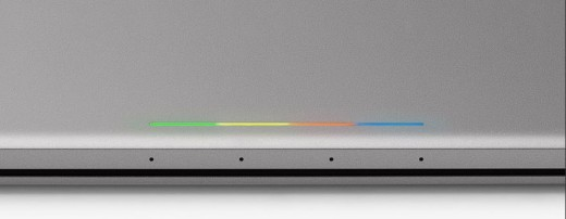 The light bar on the Pixel C animates, and can show remaining charge