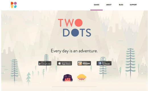 Two dots game story