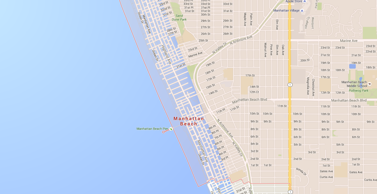 Google Maps imagery seems to show what global warming would look like