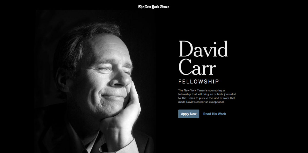 Honoring David Carr: NYT starts fellowship reflecting his belief in young writers