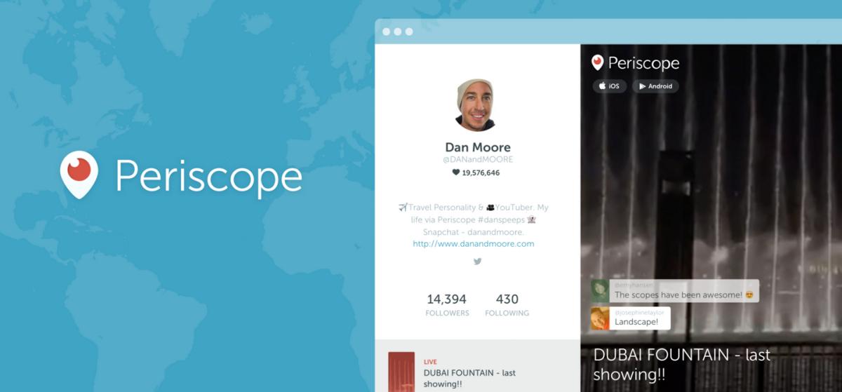 Periscope has introduced Web profiles