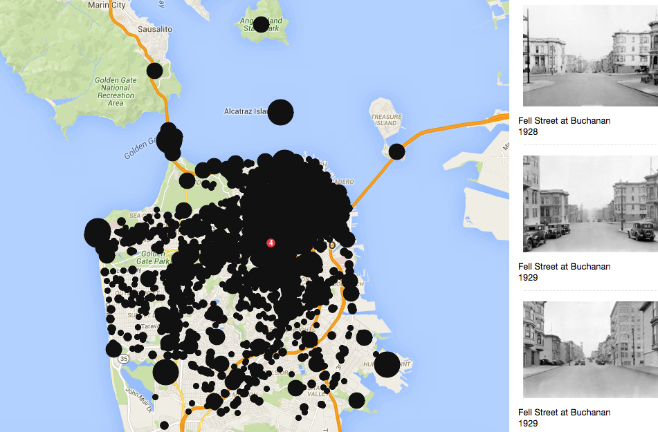 Take a tour of old school San Francisco with this OldSF interactive map