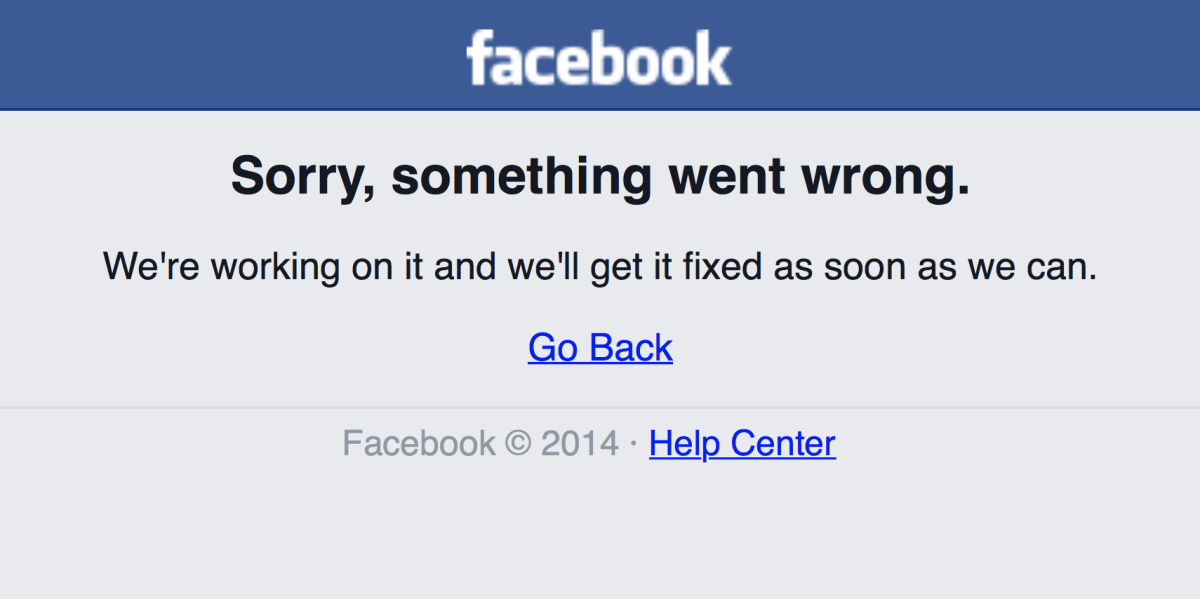 Facebook is down, go do something more fun while it recovers [Update: It's back!]