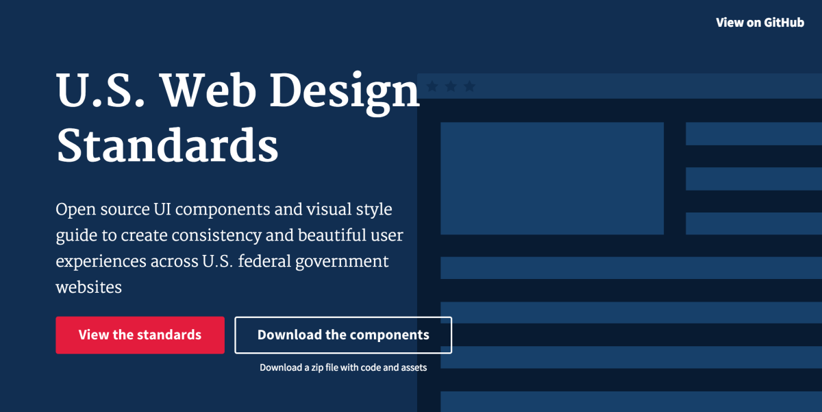 US government releases new design standards so its websites can stop being ugly