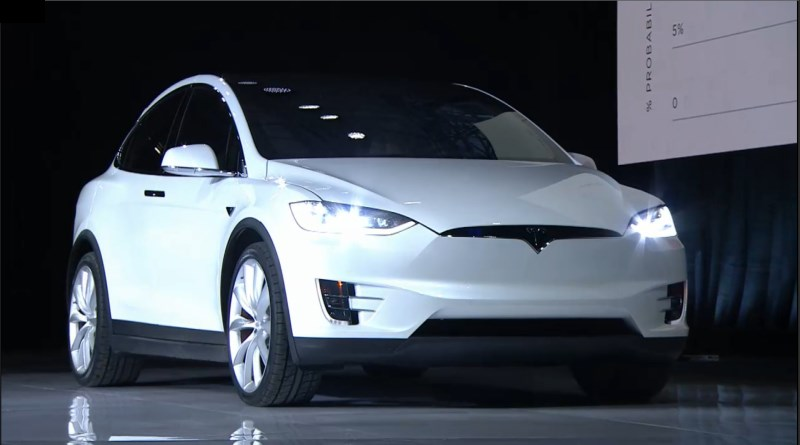 Tesla CEO Elon Musk showed off the Model X in California today
