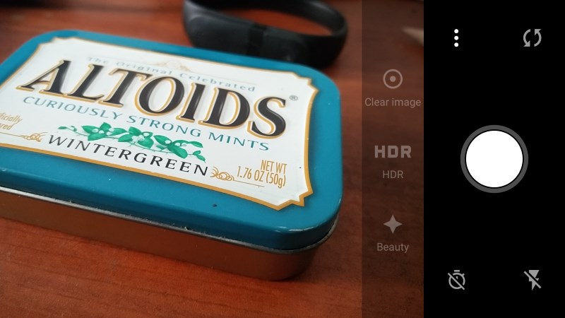 The camera app is basic and reminiscent of the default iOS app