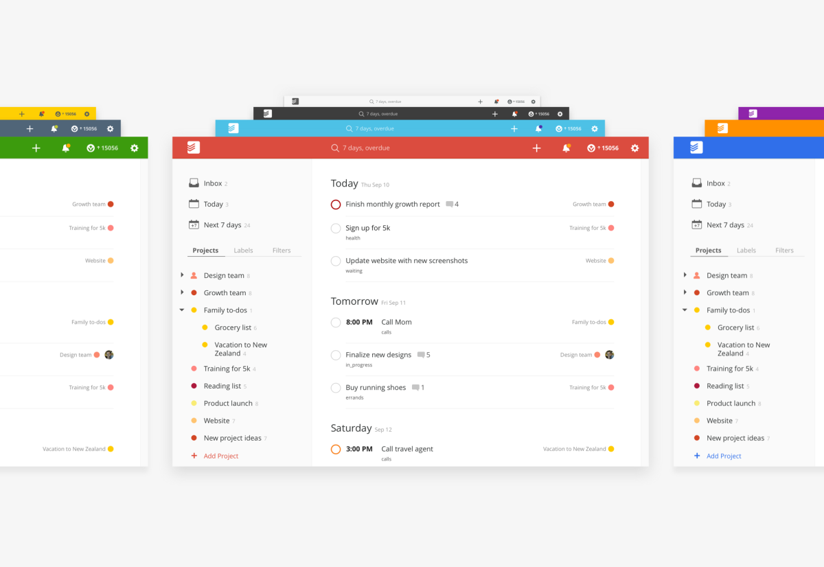 Todoist color themes