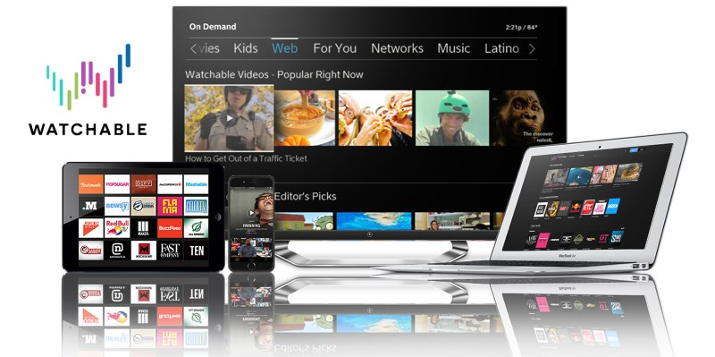 Watchable is available on the Web, iOS devices as well as Comcast's X1 set-top box for TVs